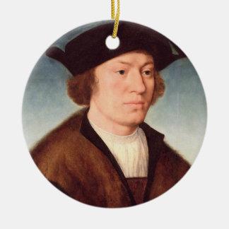 未知の人のポートレート、1520年(パネルの油) セラミックオーナメント