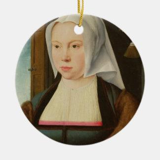 未知の女性のポートレート、1527年(パネルの油) セラミックオーナメント