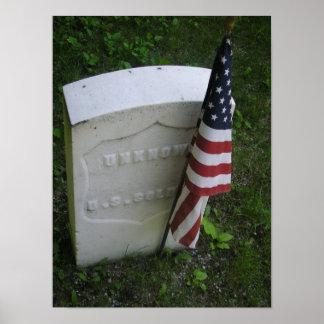 未知の米国の兵士の墓 ポスター