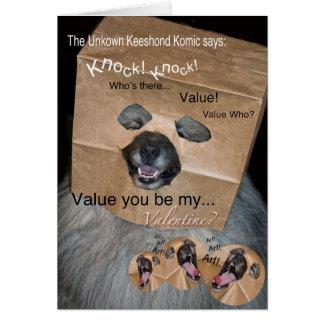 未知のKeeshondのKomicのバレンタインカード カード