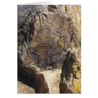 未確認飛行物体の岩石彫刻 カード