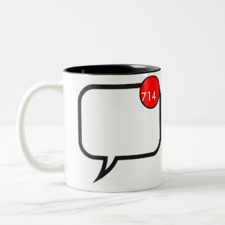 未読メッセージ ツートーンマグカップ