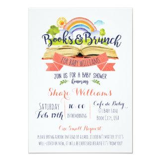 本およびブランチのベビーシャワーの招待状 カード