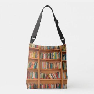 本だなは図書館の本の虫の読書を予約します クロスボディバッグ