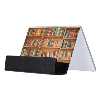 本だなは図書館の本の虫の読書を予約します デスク名刺ホルダー