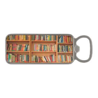 本だなは図書館の本の虫の読書を予約します マグネット栓抜き