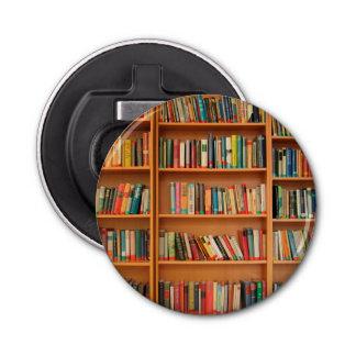 本だなは図書館の本の虫の読書を予約します 栓抜き