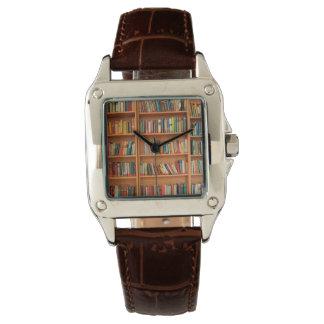 本だなは図書館の本の虫の読書を予約します 腕時計