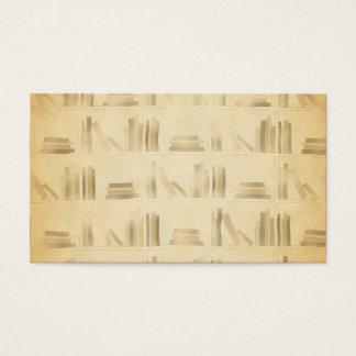 本だなパターン。 ヴィンテージのスタイルの一見の背景 名刺