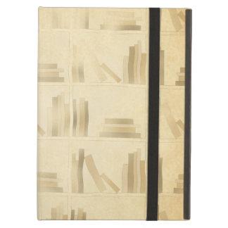 本だなパターン。 ヴィンテージのスタイルの一見の背景 iPad AIRケース