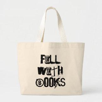 本のトートで満たして下さい ラージトートバッグ