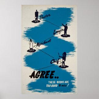 本のヴィンテージポスター ポスター