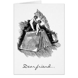 """本の天使、""""親愛なる友人… """" カード"""