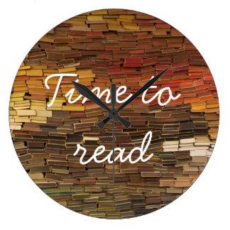 本の時計を読む時間 ラージ壁時計