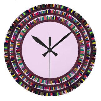 本の時計 ラージ壁時計