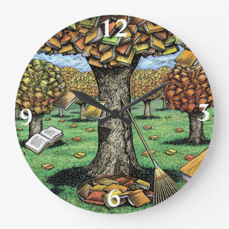 本の木の時計 ラージ壁時計