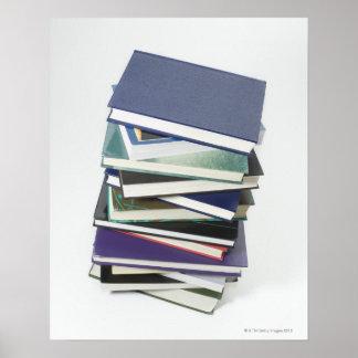 本の積み重ね ポスター