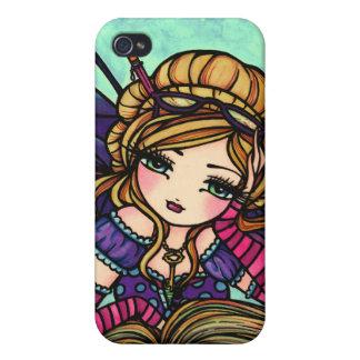 本の虫の妖精のかわいい妖精のファンタジーの芸術のiphoneの場合 iPhone 4 case
