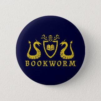 本の虫の紋章ボタン 5.7CM 丸型バッジ