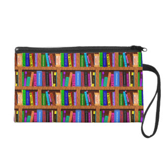 本の虫の読者のための図書館の本棚パターン リストレット