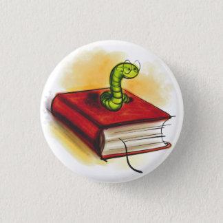 本の虫ボタン 3.2CM 丸型バッジ