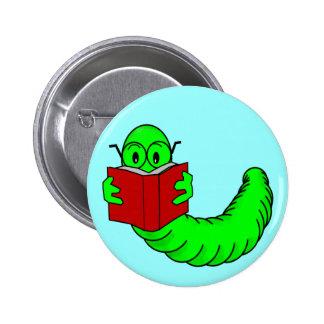 本の虫ボタン 5.7CM 丸型バッジ
