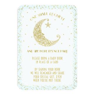 本の要求きらめき少し星のベビーシャワーの青 カード