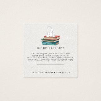 本の要求 小さいバニーのベビーシャワーの挿入物 スクエア名刺