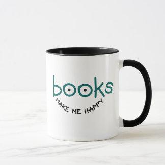 本は私に幸せなマグをします マグカップ