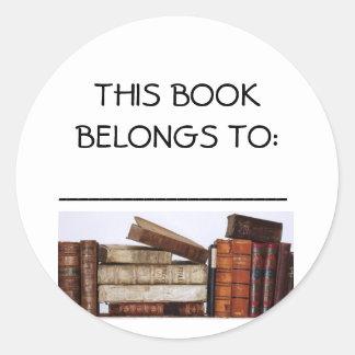 本は、この本に属します: 、 -----------------… ラウンドシール