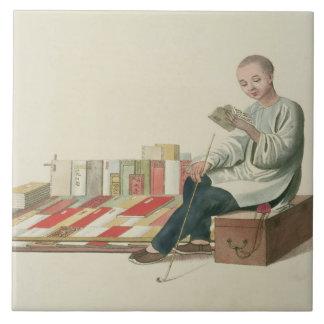 本屋は、「中国の衣裳」からの6つをめっきします、 タイル