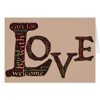 本当のつながりを定義する単語芸術の型枠の愛 カード