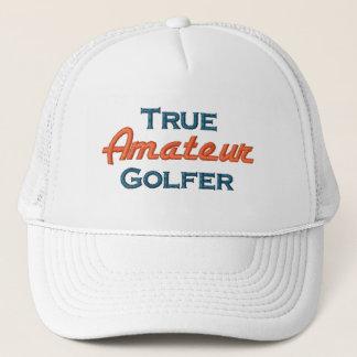 本当のアマチュアゴルファーの網の帽子 キャップ