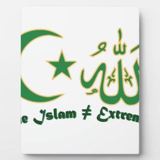 本当のイスラム教 フォトプラーク