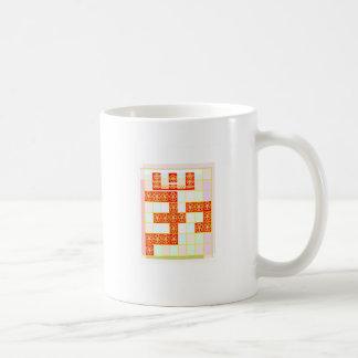本当のサフラン色OMの信念のグラフィック・デザインNavin コーヒーマグカップ
