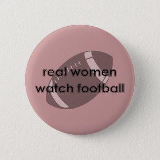 本当の女の腕時計のフットボールボタン 5.7CM 丸型バッジ