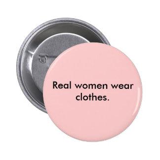 本当の女の衣服の衣服 5.7CM 丸型バッジ