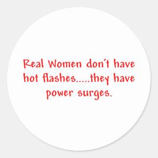 本当の女の…電力サージのステッカー ラウンドシール
