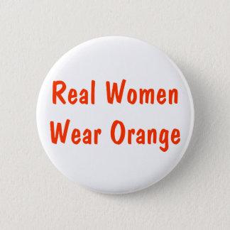 本当の女はオレンジを身に着けています 5.7CM 丸型バッジ