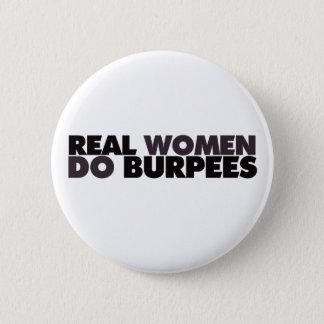 本当の女はBurpeesをします 缶バッジ