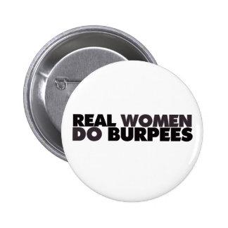本当の女はBurpeesをします 5.7cm 丸型バッジ