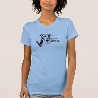 本当の女愛ピット・ブル Tシャツ