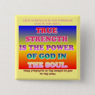 本当の強さは精神の神の力です 缶バッジ