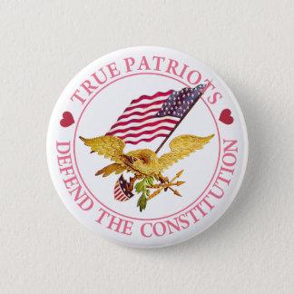 本当の愛国者は憲法を守ります 5.7CM 丸型バッジ