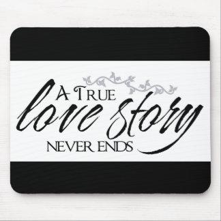 本当の決してラブストーリーの終わりの引用文のマウスパッド マウスパッド