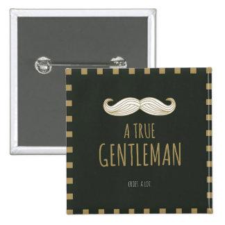 本当の紳士 5.1CM 正方形バッジ