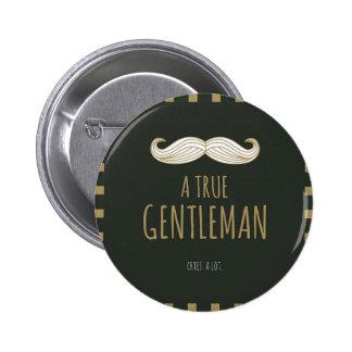 本当の紳士 5.7CM 丸型バッジ