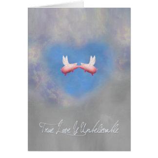 本当愛は愛の信じ難飛行のブタです カード