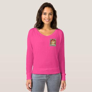 本当愛は肩のワイシャツから離れて永久にピンクのFlowyいます Tシャツ
