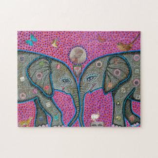本当愛アフリカゾウのパズル ジグソーパズル